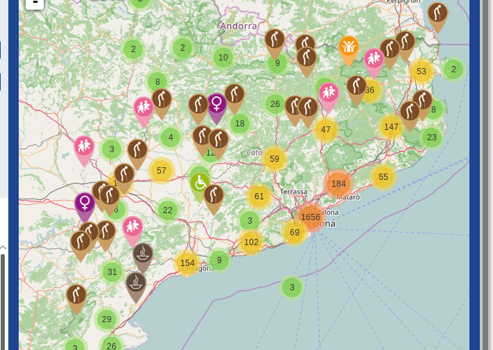 Mapa de entidades sociales de Cataluña