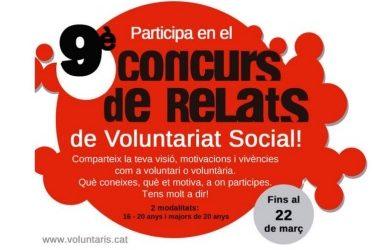 IX Concurso de Relatos de Voluntariado Social a Lleida